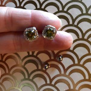 Jewelry - Peridot CZ Post Earrings